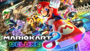Mario Kart is a fun racing game that kids and adults will enjoy alike