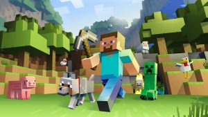 Minecraft is the best choice if you want to play video games with your kid