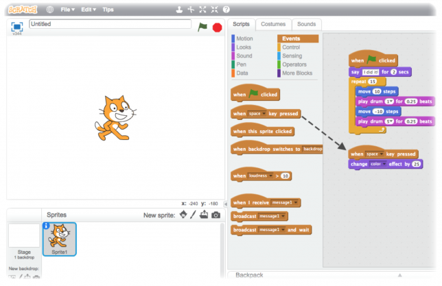 Scratch is an entertaining way to learn how to code