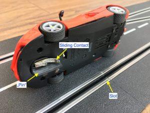 Slot Car Racing - Slot, Pin and Sliding Contact
