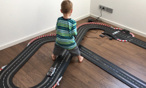 Our 3 Year Old Son Slot Racing On His Own